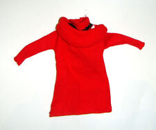Barbie Fashion Red Sweater Top For Barbie Dolls dn4