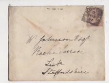 Macclesfield [D] Squared Circle Postmark 12 Dec 1887 QV Cover 433b