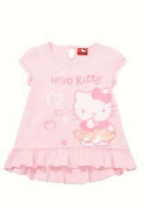 BNWT, Girls, Hello Kitty, Frill Hem, Tunic, Pink Mix, Size  4-5 years