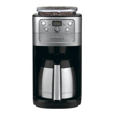 Cuisinart Coffee Maker Grind Brew 12-Cup Black Chrome Programmable Double-Wall