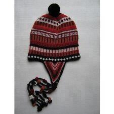 Wintermütze Chullo Alpakamütze Wollmütze rot Alpaka Wolle