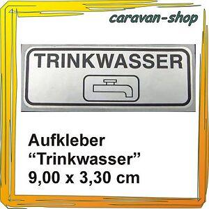 """Aufkleber """" Trinkwasser"""" zur Kennzeichnung der Einfüllstutzen Wohnmobil Caravan"""