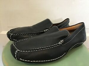 Men's Apt.9 Black Leather Driving Shoes / Loafers size 11