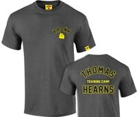 KRONK Boxing Thomas Hearns Training Camp T Shirt Charcoal Melange