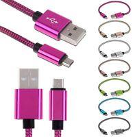 25cm aluminium Micro USB chargeur tressée câble Data Sync Données pr Android