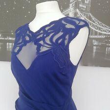 Señoras Vestido Lápiz Elástico Lipsy Wiggle Azul Talla 14