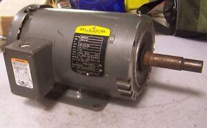 BALDOR 1 HP ELECTRIC AC MOTOR 208-230/460 VAC 1725 RPM 143JM FRAME 3 PHASE