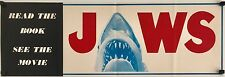 Jaws Original 1975 Book & Movie Banner/Flyer (small poster)