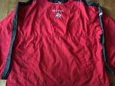 Ohio State Buckeyes Pullover Windbreaker Jacket XL Puma Red  OSU Mint Vented