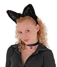 Large Cat Halloween Costume Accessories Kit Black Ears NEW UNUSED