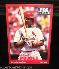 2001 2002 Albert Pujols Fox Sports Net Rookie Card RC St. Louis Cardinals