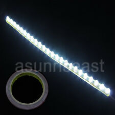 10X Car White 24cm 24LED PVC Flexible LED Strip Light+Double Faced Adhesive Tape