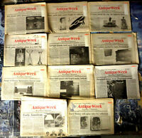 ANTIQUE WEEK: EASTERN EDITION - Lot of 11 backissues from 1991-1992