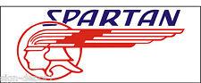 A128 Spartan Airplane banner hangar garage decor Aircraft signs