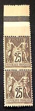 timbre france, n°97, Type sage 25c noir/rose neuf **, cote 360e très jolie pièce
