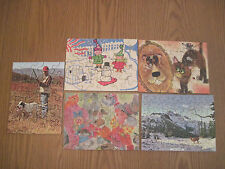 Vintage Lot of 5 Miniature Children's Jigsaw Puzzles Tuco 30-88 pieces