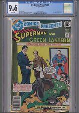 DC Comics Presents #6 CGC 9.6 1979 Comic: Superman and Green Lantern: NEW Frame