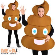 Pooper Poop Kids Fancy Dress Funny Novelty Emoji Girls Boys Child Costume Outfit