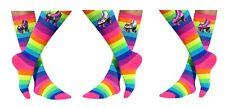 Roller Skating Unicorn Socks Rainbow Knee High Leggings Derby Glow Skate Party