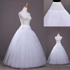 New A-Line White Hoop Long Petticoat/Underskirt/Slip Crinoline Prom/Wedding