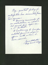 signed letter by U.S. Army General James H. Batte * autograph with COA *  WWII