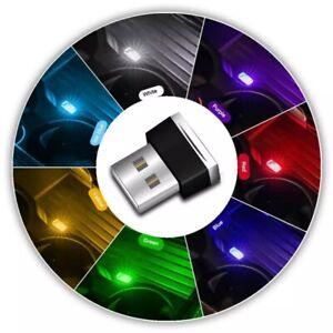 1pcs USB LED Light Colorful Light Lamp For Laptop Car Atmosphere Lamp S40G