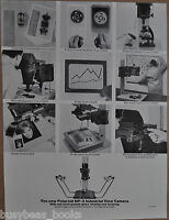 1963 Polaroid advertisement for POLAROID MP-3 Industrial View Camera
