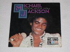 """MICHAEL JACKSON ROCK WITH YOU RARE ÉDITION ORIGINAL ESPAGNOL 7"""""""