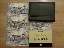 Hyundai Elantra Owners Handbook/Manual and Wallet 03-06