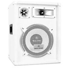 "Auna White DJ PA Loud Speaker 400w 10"" Bass"