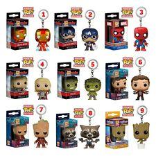 Funko Pop Keychains Key Ring Marvel DC Captain America Iron Man Spider-Man