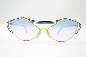 Vintage Casanova LC 9 Gold Blue Yellow Purple Oval Sunglasses NOS