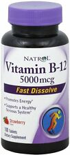 Vitamin B12 Fast Dissolve, Natrol, 100 tablet 5000 mcg 1 Bottle