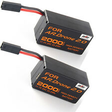 2x 2000mAH 11.1V 20C LiPo Powerful Battery for Parrot AR.Drone 2.0 Quadricopter
