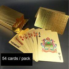 Mini mazzo da 54 carte da collezione Texas Poker in Lamina D'oro 24K
