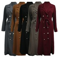New Women Double Breasted Trench Coat Ladies Jacket Winter Long Outwear Tops