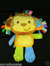 Taggies Patchkin Pals Monkey Squeaky Baby Toy Lovey Colorful Lots of Taggies