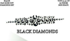 CLOSE OUT!!!! Natural Rose Cut Loose Black Diamonds Set (52 pcs ) 21.51 Ct BKK72