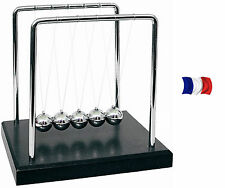 PENDULE BALANCIER DE NEWTON Crèche Cradle A BILLES DESIGN SOCLE ANTI STRESS Toy