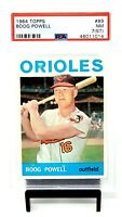 1964 Topps Baltimore Orioles Star BOOG POWELL Baseball Card PSA 7 (ST) NEAR MINT