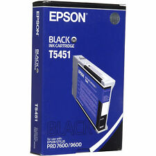 Epson T545100 Photographic Dye Black Ink Cartridge f/ Stylus Pro 7600 9600 110ml