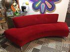 Vintage Thayer Coggin Sofa Modernist Modern Curved 96'