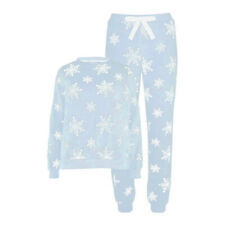 Ladies Womens Fleece Warm Christmas PJs Pyjamas Sets Size 8 10 12 14 16 18