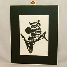 CHENG HU-TIEN The Art of Chinese Paper Cutting Signed Original Owl