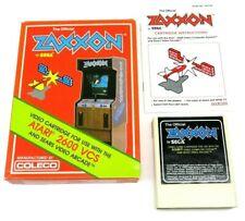 Zaxxon (Atari 2600, 1982) By Coleco (Box, Cartridge & Manual) NTSC #1