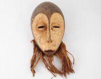 Congo mask African wooden Lega mask tribal home decor Zaire
