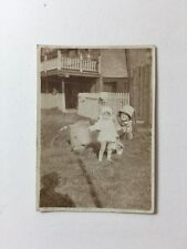 Vintage BW Real Photo #AV: Mother And Child In Garden