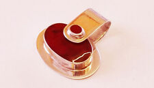 925 silver Large red jasper two stones pendant