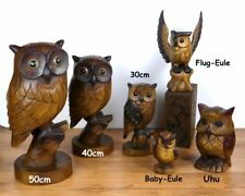 Beautifully Handcrafted Wooden Owls Handmade in Thailand Decorative Accessory …