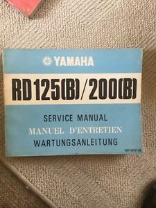 Yamaha RD125 RD200 B Genuine Service Manual
